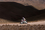 Motorcycle rider Joan Barreda Bort from Spain riding his Honda bike during the 5th stage of the Dakar Rally 2016 in the Bolivian Altiplano.