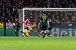 Atletico de Madrid's Antoine Griezmann scores goal during UEFA Champions League match between Atletico de Madrid and AS Monaco at Wanda Metropolitano Stadium in Madrid, Spain. November 28, 2018. (ALTERPHOTOS/A. Perez Meca)