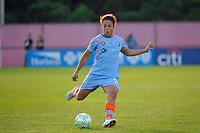 Casey Nogueira (27) of Sky Blue FC. Sky Blue FC defeated the Atlanta Beat 3-0 during a Women's Professional Soccer (WPS) match at Yurcak Field in Piscataway, NJ, on May 21, 2011.