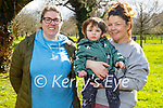 Enjoying a stroll in the Tralee town park on Tuesday, l to r: Jennifer Hurley, Harry and Sharon O'Brien.