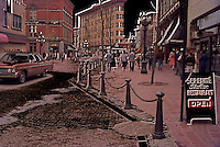 Historic Gastown, Downtown Vancouver, BC, British Columbia, Canada - Creative Concept