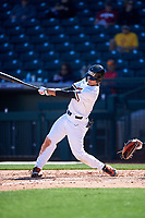 Oregon State Beavers Micah McDowell (12) at bat during an NCAA game against the New Mexico Lobos at Surprise Stadium on February 14, 2020 in Surprise, Arizona. (Zachary Lucy / Four Seam Images)