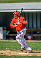 1 September 2019: Retired Major League Baseball and now Burlington Cardinal pitcher Bill Lee at bat against the Waterbury Warthogs at Burlington High School in Burlington, Vermont. The Warthogs edged out the Cardinals 2-1 to end the regular season of league play. Mandatory Credit: Ed Wolfstein Photo *** RAW (NEF) Image File Available ***