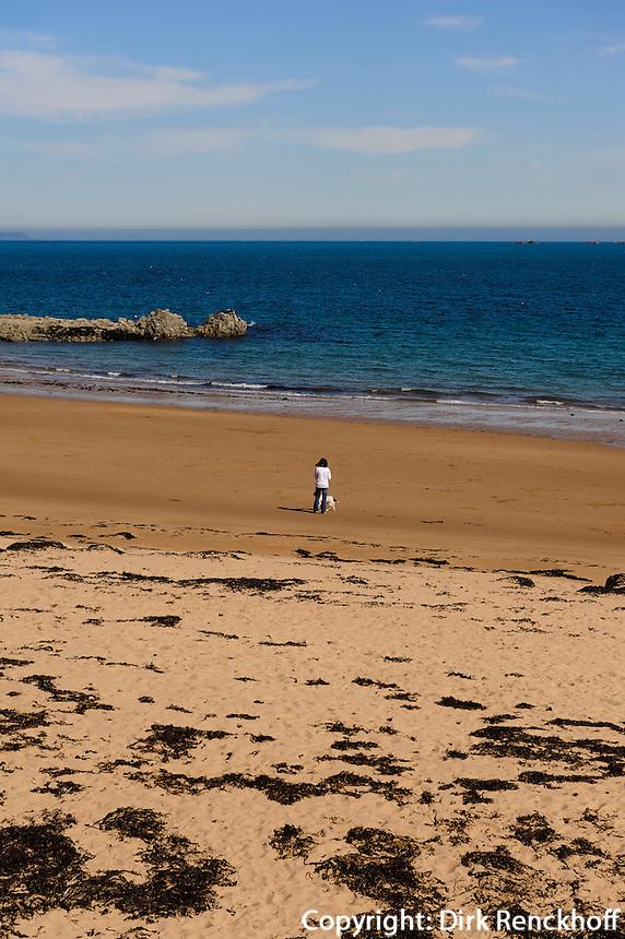 Strand von Greve de Lecq im Norden, Insel Jersey, Kanalinseln