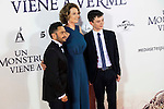 "The director of the film J.A. Bayona, Sigourney Weaver and Lewis MacDougall during the premiere of the spanish film ""Un Monstruo Viene a Verme"" of J.A. Bayona at Teatro Real in Madrid. September 26, 2016. (ALTERPHOTOS/Borja B.Hojas)"