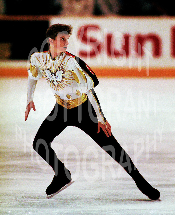 Andrei Vlachenko of Germany competes at Skate Canada.