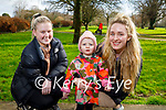 Enjoying a stroll in the Tralee town park on Monday, l to r: Sinead O'Callaghan, Arden and Ciara Fitzgerald.