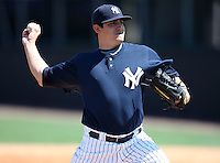 March 26, 2010:  Pitcher Cory Arbiso of the New York Yankees organization during Spring Training at the Yankees Minor League Complex in Tampa, FL.  Photo By Mike Janes/Four Seam Images