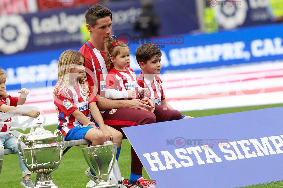 Atletico de Madrid's Fernando Torres after last Liga match. May 21,2017. (ALTERPHOTOS/Acero) /NortePhoto.com