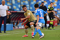 Gabriel Strefezza of SPAL vies for the ball with Mario Rui of SSC Napoli during the Serie A football match between SSC  Napoli and SPAL at stadio San Paolo in Naples ( Italy ), June 28th, 2020. Play resumes behind closed doors following the outbreak of the coronavirus disease. <br /> Photo Carmelo Imbesi / Insidefoto
