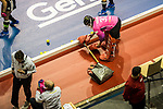 Berlin, Germany, February 10: During the FIH Indoor Hockey World Cup quarterfinal match between Germany (black) and Poland (red) on February 10, 2018 at Max-Schmeling-Halle in Berlin, Germany. Final score 3-1. (Photo by Dirk Markgraf / www.265-images.com) *** Local caption *** Rosa KRUEGER #32 of Germany