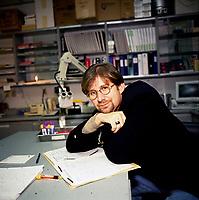 Exclusive File Photo - Doctor  Rejean Thomas in his lab circa 1999
