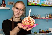 Eisdiele Schlecks, Fischers Allee 78,Hamburg - Ottensen, Deutschland, Europa<br /> icecream parlor Schlecks, Fischers Allee 78,Hamburg - Ottensen, Germany, Europe