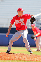 Ohio State Buckeyes Drew Rucinski #12 during a game vs. the Illinois State Redbirds at Chain of Lakes Park in Winter Haven, Florida;  March 11, 2011.  Illinois defeated Ohio State 12-1.  Photo By Mike Janes/Four Seam Images