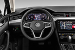 Car pictures of steering wheel view of a 2020 Volkswagen Passat-Variant Elegance-Business 5 Door Wagon Steering Wheel