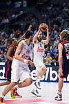 Real Madrid´s players Sergio Rodriguez and Gustavo Ayon during the 4th match of the Turkish Airlines Euroleague at Barclaycard Center in Madrid, Spain, November 05, 2015. <br /> (ALTERPHOTOS/BorjaB.Hojas)