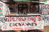 Giovanni's famous shrimp truck in Haleiwa, North Shore, O'ahu.