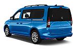 Car pictures of rear three quarter view of 2021 Volkswagen Caddy California-Maxi 5 Door Camper Van Angular Rear