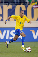 Diego Tardelli (20) of Brazil. The men's national team of Brazil (BRA) defeated the United States (USA) 2-0 during an international friendly at the New Meadowlands Stadium in East Rutherford, NJ, on August 10, 2010.