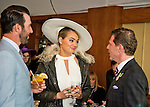 October 31, 2015 : Supermodel Kate Upton and Detroit Tigers pitcher Justin Verlander talk wit Bobby Flay at the Breeders' Cup at Keeneland Race Course in Lexington, Kentucky.  Scott Serio/ESW/CSM