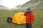 Scott Using Satellite Phone