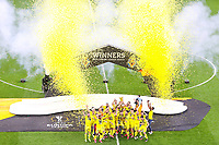 Villarreal players celebrate with the trophy <br /> Gdansk 26/05/2021<br /> Europa League Final <br /> Villarreal Vs Manchester United<br /> Photo LUKASZ GROCHALA/CYFRASPORT / NEWSPIX.PL Imago/Insidefoto