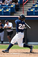 April 11th 2010: Kentrail Davis of the Brevard County Manatees, the Florida State League High-A affiliate of the Milwaukee Brewers in a game against the of the Daytona Cubs, the Florida State League High-A affiliate of the Chicago Cubs at Space Coast Stadium in Viera, FL (Photo By Scott Jontes/Four Seam Images)