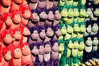 Colorful stuffed gorillas wait to be won at an amusement game at Carowinds theme Park near Charlotte, NC. Carowinds is a 112-acre theme park (amusement park) located on the state lines between North Carolina and South Carolina. The theme park is a popular summer Carolina attraction, one of three major theme parks in the Carolinas.
