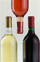 Viticulture générale: Bouteilles de Vin blanc, rosé et rouge