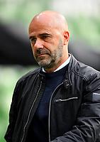18th May 2020, WESERSTADION, Bremen, Germany; Bundesliga football, Werder Bremen versus Bayer Leverkusen;  Leverkusen head coach Peter Bosz before the game