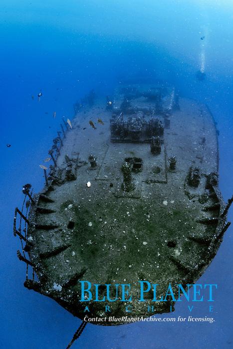 """Sea Tiger"" shipwreck, Waikiki, Oahu, Hawaii, USA, Pacific Ocean"