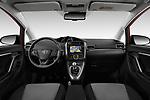 Stock photo of straight dashboard view of 2017 Toyota Verso 50th-Anniversary+-PACK 5 Door Mini MPV Dashboard