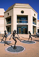 DANCING BRONZE FIGURES in front of the HERBERGER THEATER CENTER - PHOENIX, ARIZONA