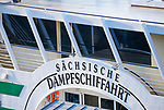 Deutschland, Freistaat Sachsen, Saechsische Schweiz, Dresden: historischer Raddampfer Leipzig (Detail) | Germany, the Free State of Saxony, Saxon Switzerland, Elbe Sandstone Mountains, Dresden: historic paddle steamer Leipzig (detail)