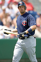 Cuddyer, Mike 7841.jpg. Minnesota Twins at Philadelphia Phillies. Spring Training Game. Saturday March 21st, 2009 in Clearwater, Florida. Photo by Andrew Woolley.