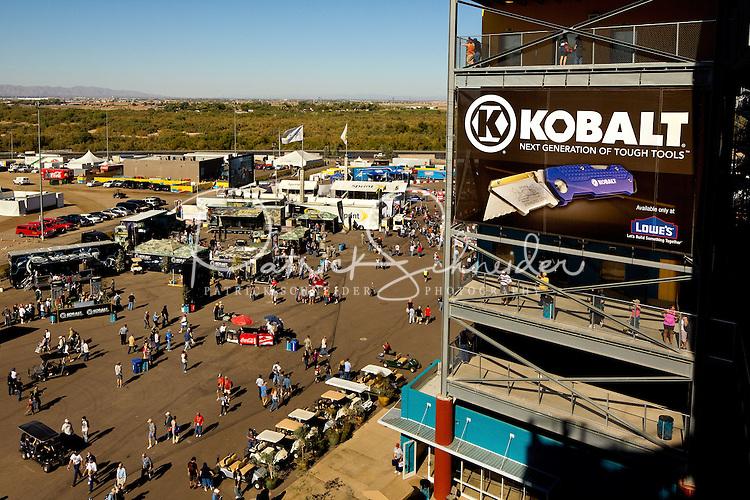 Kobalt branding coverage of the NASCAR Sprint Cup Series Kobalt Tools 500 at Phoenix International Raceway on November 14, 2010 in Avondale, Arizona.