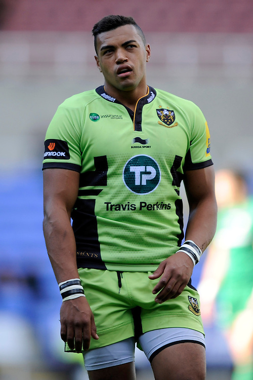 Luther Burrell of Northampton Saints during the Premiership Rugby match between London Irish and Northampton Saints at the Madejski Stadium on Saturday 4th October 2014 (Photo by Rob Munro)