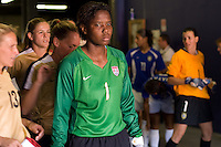Briana Scurry prepares to enter the field. USA defeated Brazil 2-0 at Giants Stadium on Sunday, June 23, 2007.