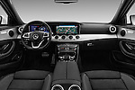 Stock photo of straight dashboard view of 2016 Mercedes Benz E-Klasse Sportline 4 Door Sedan Dashboard