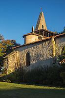 France, Aquitaine, Landes (40) , Moustey: Église Saint-Martin //  France, Aquitaine, Landes, Moustey: St Martin church
