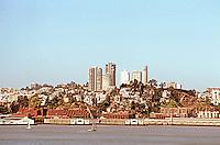 San Francisco:  San Francisco Bay from Yerba Buena. Telegraph Hill.   Photo '89.