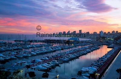 Spain, Costa Blanca, El Campello near Alicante: Marina at Sunset | Spanien, Costa Blanca, El Campello bei Alicante: Yachthafen bei Sonnenuntergang
