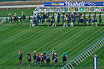 July 27, 2014: The field moves away from the starting gate in the Winstar Matchmaker Stakes on Haskell Invitational Day at Monmouth Park in Oceanport, New Jersey Scott Serio/ESW/CSM