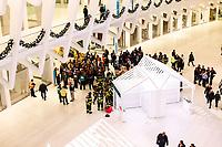 NOVA YORK, EUA, 18.11.2018 - SEGURANÇA-EUA - Autoridade Portuária realiza treinamento de salvamento de vitimas em situação de emergencia na estação World Trade Center em Nova York nos Estados Unidos na madrugada deste domingo. 18 (Foto: William Volcov/Brazil Photo Press)
