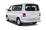 Car pictures of rear three quarter view of a 2014 Volkswagen CARAVELLE COMFORTLINE 4 Door Passenger Van Angular Rear