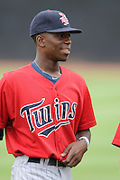 Shortstop Nick Gordon (9) of the Elizabethton Twins in a game against the Johnson City Cardinals on Sunday, July 27, 2014, at Howard Johnson Field at Cardinal Park in Johnson City, Tennessee. Gordon was a first-round pick of the Minnesota Twins in the 2014 First-Year Player Draft.(Tom Priddy/Four Seam Images)