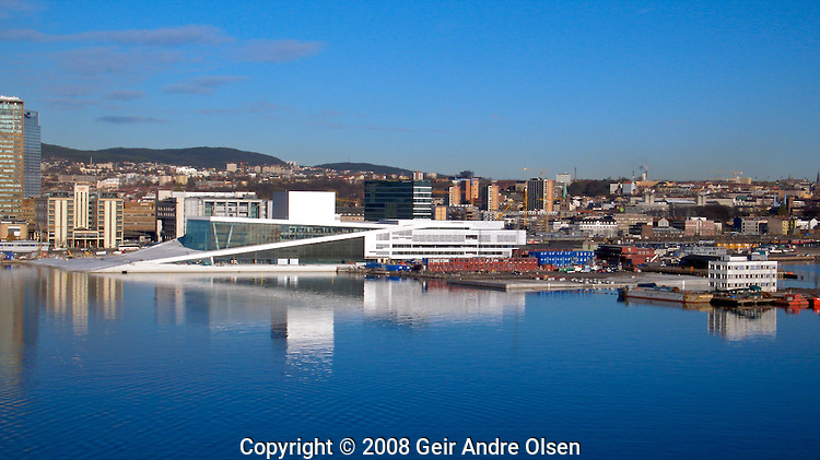 The new Opera hous in Oslo, Norway