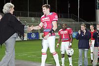 Quarterback Dennis Zimmermann (Braunschweig Lions) wird als wertvollster Spieler des German Bowl XXIX ausgezeichnet