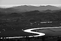 aerial photograph Petaluma River Marin County, California