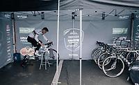 CX world champion Wout Van Aert (BEL/Crelan-Charles) warming up<br /> <br /> Elite Men's race<br /> UCI CX World Cup Namur / Belgium 2017